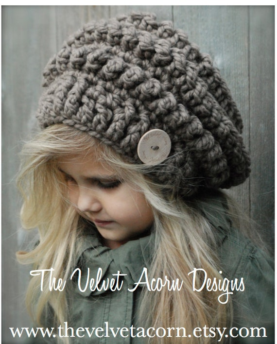 Crochet PATTERN-The Stormlyn Slouchy Toddler Child and