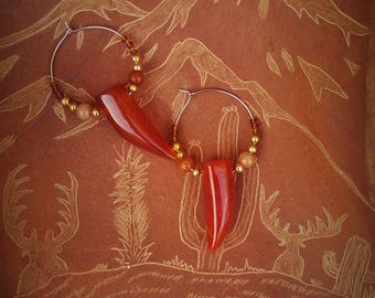 SENNA (CARNELIAN EARRINGS)