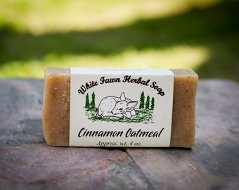 Cinnamon Oatmeal Herbal Soap - 100% Natural, Handmade