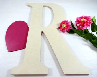 Signature Letters - Alternative Guest Books - Wedding Unfinished Wood Letters - Large Letters - Wall Letters - Home Decor - Wood Photo Props