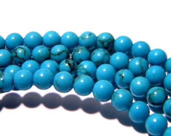 20 beads 4 mm turquoise natural - bright - gems F33 semi-precious stones
