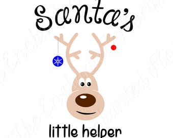 Santa's little helper,  SVG, Christmas Cutting File, Reindeer, Christmas cutting plotter files, SVG, pdf, png, eps, dxf Silhoutte, Cricut