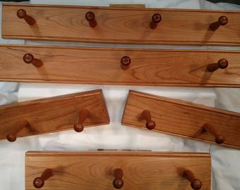 "Cherry Shaker Peg Rails (16"" - 36"")"