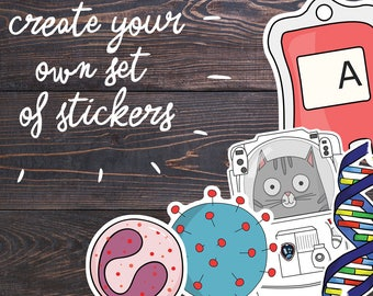Science Stickers, Geek Laptop Stickers Sale, Nerd Car Decal, Geeky Gifts, Scientist Gift, Science Vinyl, Planner Stickers, Sticker Shop Sale