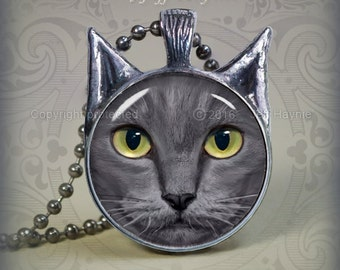 GK1 GREY  CAT pendant