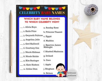 Baby Shower Baby Celebrity Baby Name Game Superhero | Superhero Baby Shower Celebrity Baby Name | Superhero Celebrity Baby Name
