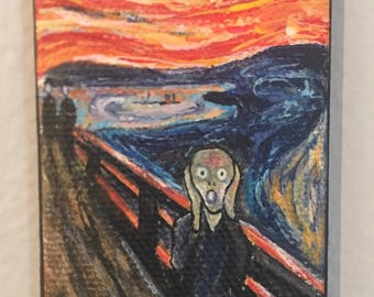 The Scream - mini painting and easel