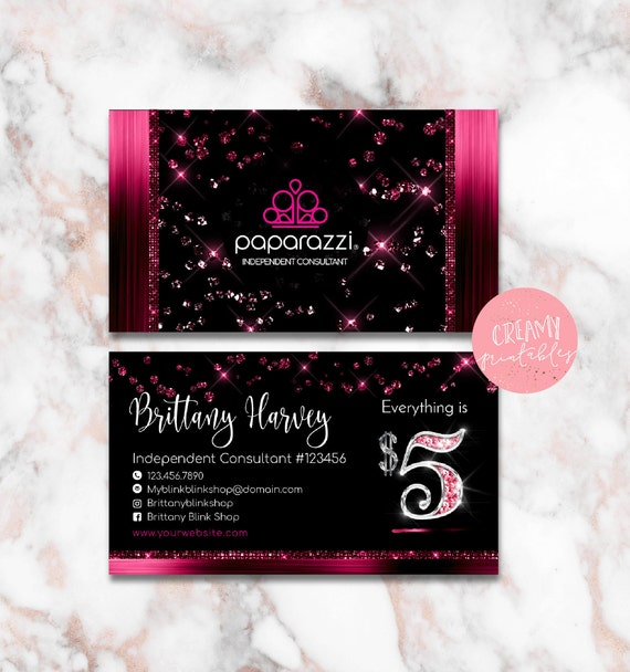 Paparazzi Business Cards Free Personalized Paparazzi Jewelry - Paparazzi business card template