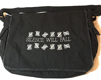 Silence Will Fall - Doctor Who Inspired Messenger Bag