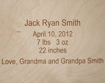 Engraving for Personalized Puzzle or Stool