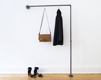 Clothes rail wardrobe cloakroom rail coat rack