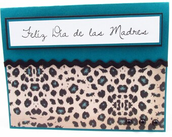 Feliz Dia de las Madres, Spanish Mothers day card, Happy Mothers Day, handmade card, tarjeta en español, card for mom, MADE TO ORDER