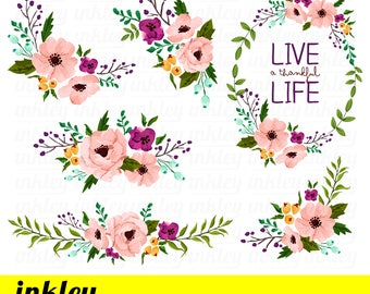 Spring lush watercolor floral clipart collection png pink pink flower clipart pink flower clip art pink flower png pink floral clipart watercolor floral clipart watercolor pink flower clipart mightylinksfo