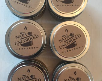 4oz  wine scented candle tins