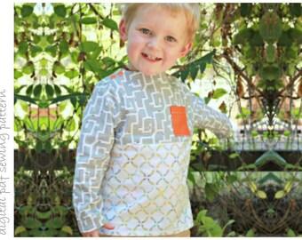 Hemlock Top - Sizes 2 to 10 - digital pdf sewing pattern