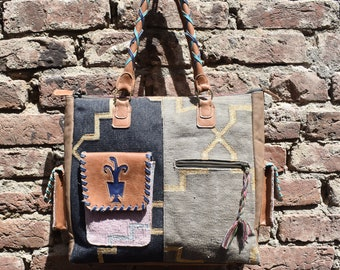 cotton kilim bag cotton kilim designer bag cotton zari kilim bag cotton kilim leather bag cotton woven hand bag kilim cotton hippy bag