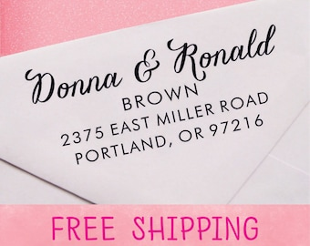 Custom Address Stamp, Self Inking Address Stamp, Personalized Address Stamp - A21