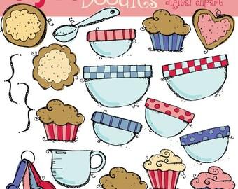 KPM Baking Cookies digital clipart COMBO