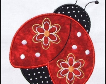INSTANT DOWNLOAD Pretty Ladybug Applique and Fill designs