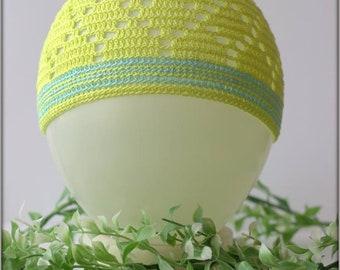 Green sun hat, summer hat, boys hat, crochet hat