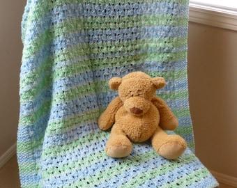 Blue & Green Knit Blanket
