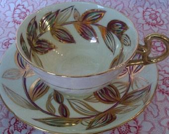 Vintage Royal Grafton Cup and Saucer. Heavy Gilt