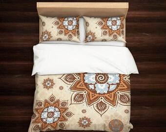 Boho Bedding, Vintage Bedding, Mandala Bedding, Chaby Chic bedding, Bohemian Bedding, Mandala Bedding Set, Hippie Bedding, Sacred Mandala