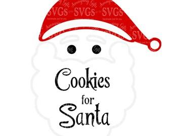 SVG   Cookies For Santa   Santa   Cookie Plate Design   Santa Cookie Plate