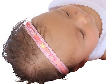 pink headband, Pink Headband Baby, Sequin Headbands, Baby Headband, Pink Baby Headband, Toddler Headband, Headbands for Babies