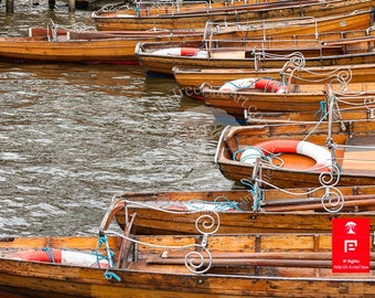 Fine art photography | wooden row boats | life ring | england wall print | wanderlust art gifts | nautical lake art | rustic wooden boats
