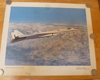 Vintage US Air Force XB-70A Valkrie Photo Poster