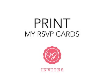 Print My RSVP Cards with Squared Corners