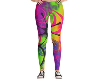 Leggings Psychedelic Tie Dye Colorful Leggings Pants Women's Awesome