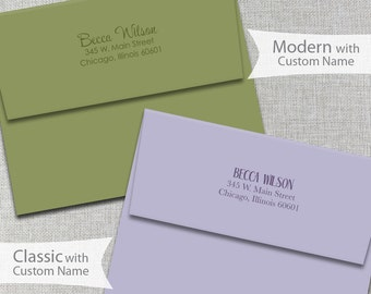 Custom Envelope Return Address Printing / Personalized Envelopes / A2 Envelopes