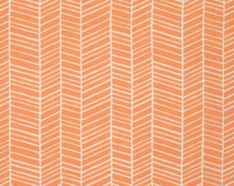Herringbone in Carrot from Flora by Joel Dewberry
