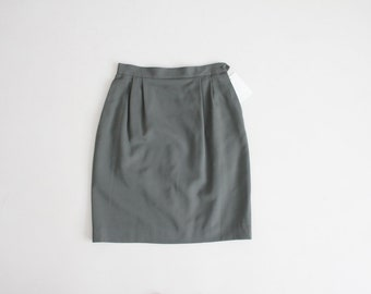 jupe en laine vert armée | jupe taille haute | Jupe Austin Reed