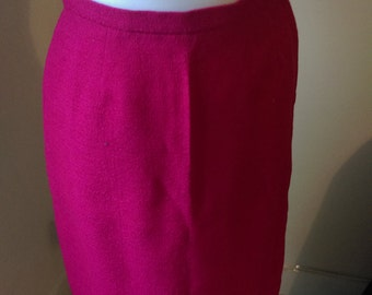 1960s pink all wool st michael a line skirt small 6 8