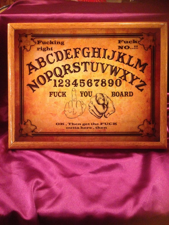 Ouija board custom made.rude ouijawiccan gothpunk FUCK YOU boardsolid oak trimfunny humor talking boardplaque wall decor from MandWs on Etsy Studio & Ouija board custom made.rude ouijawiccan gothpunk FUCK YOU board ...