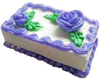 MINI SHEET CAKE Soap Handcrafted Novelty Birthday Bakery Bath Fun Big 7oz Bar U Pick Color & Scent
