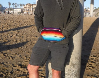 Hoodie sweatshirt with Serape detail