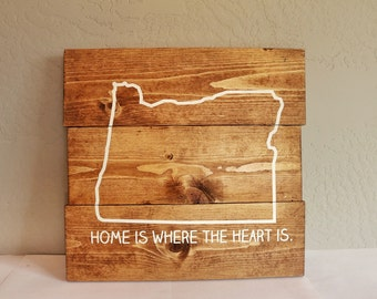 Home Is Where The Heart Is Sign Customize