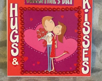 Hugs And Kisses Valentines Day Card