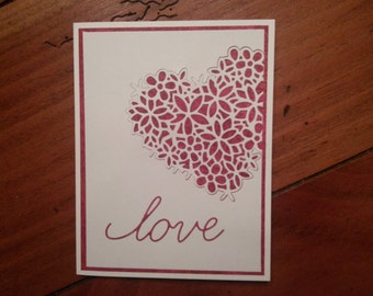 Lacey Heart Card