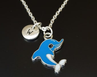 Dolphin Necklace, Dolphin Jewelry, Dolphin Charm, Dolphin Pendant, Sea Animal Necklace, Nautical Jewelry, Nautical Necklace, Ocean Necklace