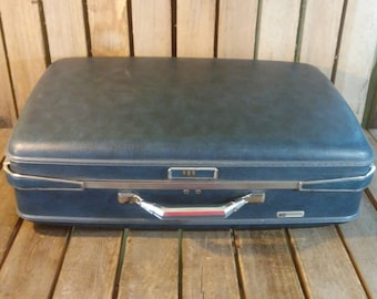 Vintage Blue Luggage, American Tourister Suitcase