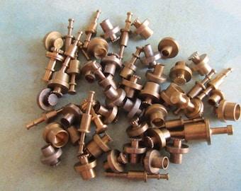 Vintage Brass Clock parts spindles - levers - Robot mix - Levers - Steampunk - Scrapbooking k2