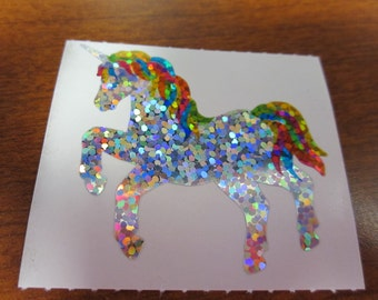Hambly Sparkle Prismatic Rainbow Unicorn Sticker
