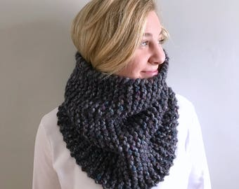 "Chunky knit Cowl / Infinity scarf / ""Tarrington"" cowl / Color - Abalone / ready to ship"