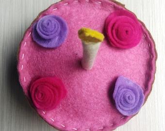 Birthday cake felt ornament, Birthday, Birthday gift, eternal memory
