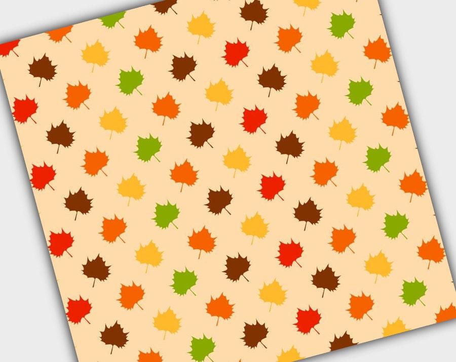 Fall Digital Paper Thanksgiving Scrapbooking Paper Instant